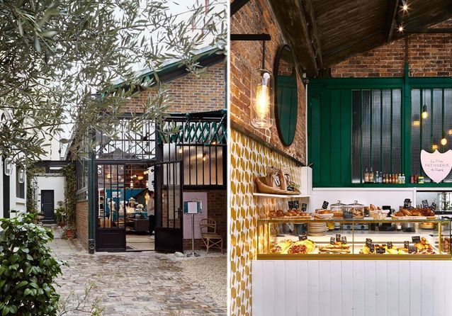 Brasserie La P'tite chez Maison Sarah Lavoine - Escale sur cour