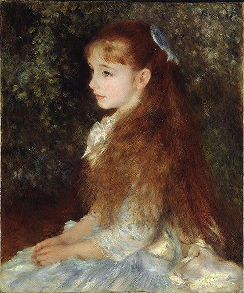 Fichier: Pierre-Auguste Renoir, 1880, Portrait de Mademoiselle Irène Cahen d'Anvers, Sammlung E.G. Bührle.jpg